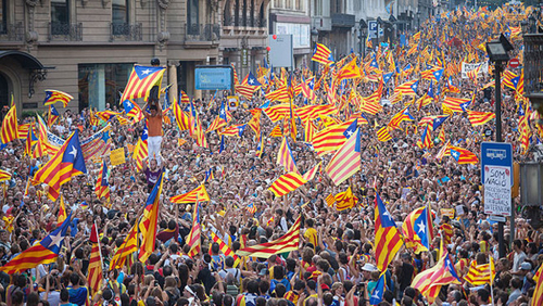 The Diada (National Day) demonstration in Barcelona, September 11, 2012.