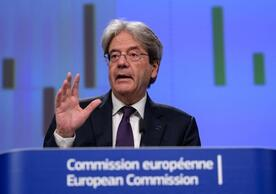 EU Commissioner for the Economy Paolo Gentiloni presenting the EU's Summer Economic Forecast, Brussels, July 2021.
