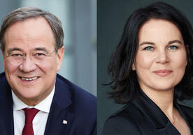 Armin Laschet, the CDU-CSU's chancellor candidate, and Annalena Baerbock, the Greens' chancellor candidate.
