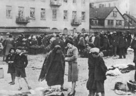 The Lodz ghetto in Poland (Image via nieznany on Wikimedia Commons)