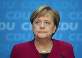 German Chancellor Angela Merkel telling CDU Bundestag members crisis over Constitutional Court ruling 'solvable', May 11.