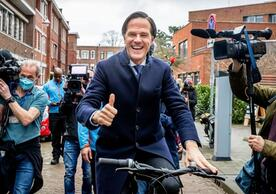 Dutch Prime Minister Mark Rutte going to work after this week's election.