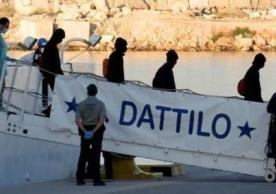 Refugees arriving in Spain after rescue in Mediterranean.