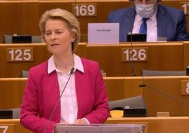 European Commission President Ursula von der Leyen presenting the Commission's recovery plan to the European Parliament yesterday.