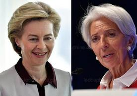 Ursula von der Leyen and Christine Lagarde, nominated yesterday to be, respectively, president of the European Commission and president of the European Central Bank.