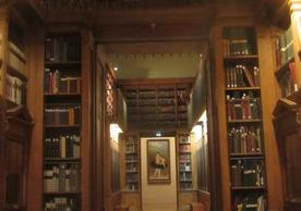 Library shelving at the Bibliothèque-musee de l'opéra